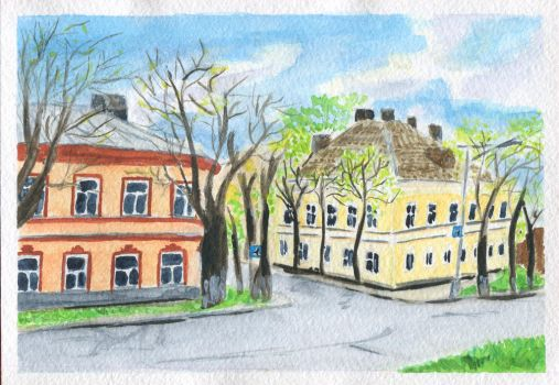 Houses of spring Novgorod by 8Libelle8