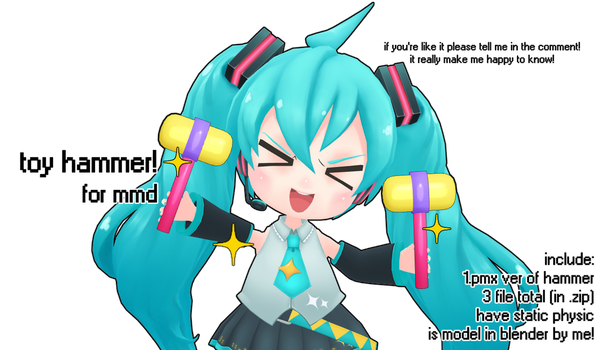[mmd DL] toy hammer! [by me~] by kawaii-noodle-boy