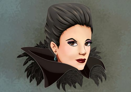 The Evil Queen (From OUAT) by MsArtGarden