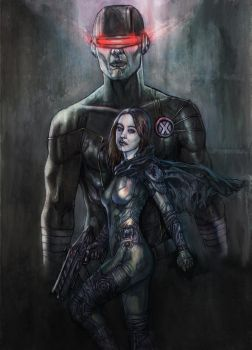 Hope and Cyclops by superegomark