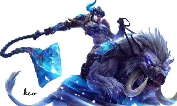 League of Legends - Sejuani Render by Aliasear