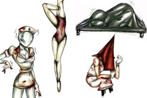 Silent Hill 2 Monsters by Sailortight
