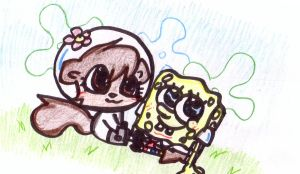Spongebob and Sandy chibi 2 by Wierdo-gurl