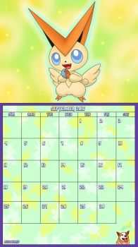 Pokemon 20th Anniversary Calender - September 2016 by AusLove