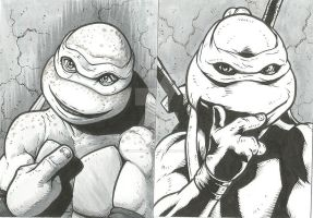 TMNT Sketch Cards by monstrous64