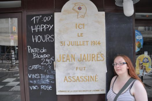 The plaque for Jaures by Izza-M