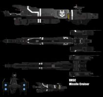 HALO UNSC Missile Cruiser by adimatters