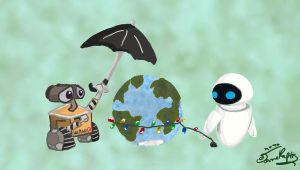 Happy Earth Day from Wall-e by Chibi-Joey