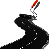 Painted road stock PNG by DoloresMinette