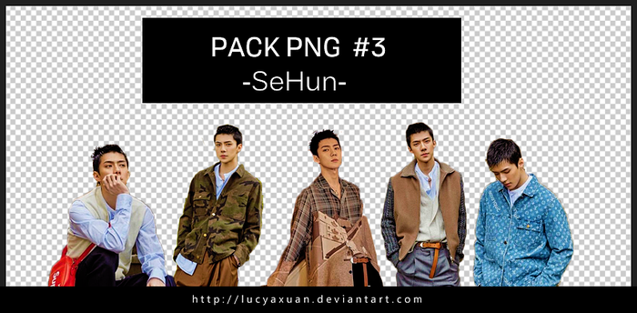 PACK PNG #3 SEHUN by Lucyaxuan