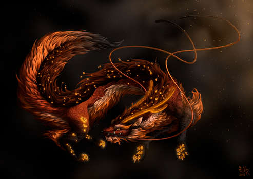 Hybrid Challenge: Chinese Dragon + Red Fox by May-Romance