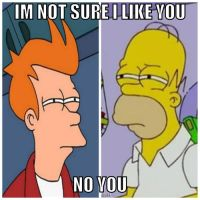 Homer vs Fry by Patch444