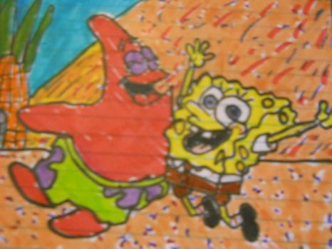 Spongebob and Patrick by FlyingLion76