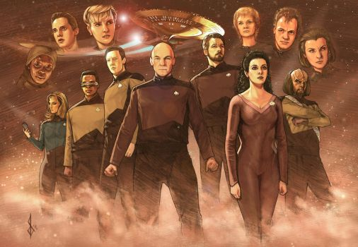 Star Trek the Next Generation painting by benttibisson