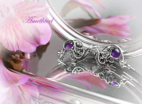 AMETHIEEL Silver and Amethyst by LUNARIEEN