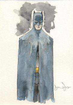Batman Blue and Gray by drewtjones