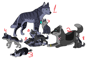 Wolfes adoptables CLOSED by Karr-Adoptables