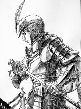 Mule, 'The Duck Knight' (Berserk Panel Redraw) by LordGuyis