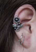 Earcuff 3: Hematite by ShadeJewerly