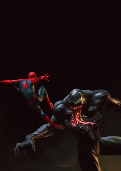 Spidey and Venom by stoudaa