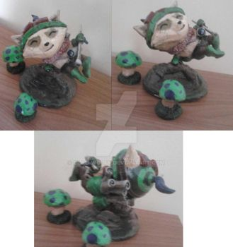Teemo sculpture comission by clau-wolfy