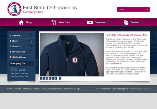 First State Orthopaedics Website by Garconis