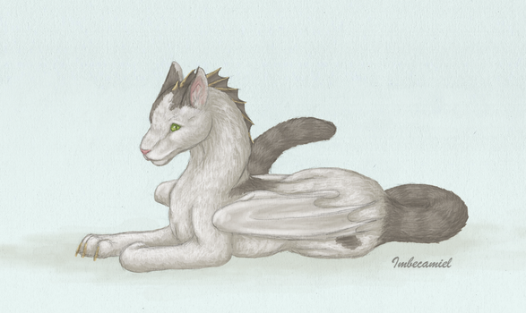 Dot the Cat Dragon by Imbecamiel