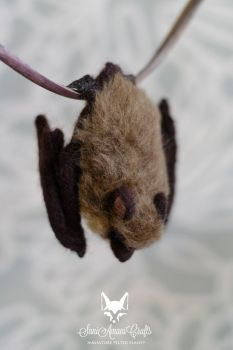 Needle felted brown bat 3 by SaniAmaniCrafts