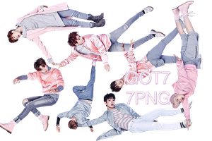 GOT7 PNG Pack {Fly} by kamjong-kai