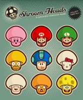 Shroom Heads (Set 1) by mictoon