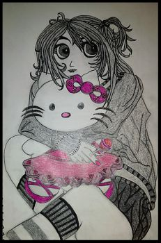 Little Miss and Hello Kitty by SpackyJacqui