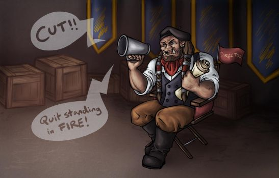 Orcish Director - Fanzine Illustration by Noxychu