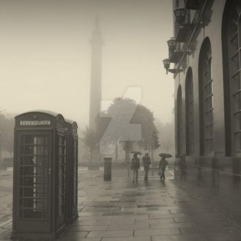 Foggy Edinburgh by lostknightkg