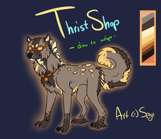 Thriftshop Draw-To-Adopt CLOSED by DemThree-Adopts