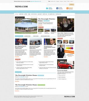 Magazine theme design by prkdeviant