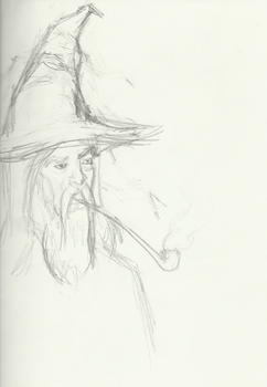 Wizard with pipe by Wopchop