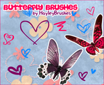 9 Butterly Brushes by hayleybrushes