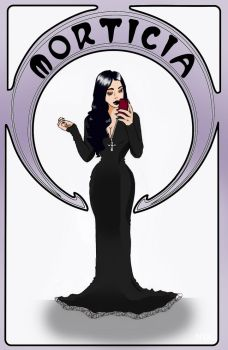 Morticia by CaptaineNyx