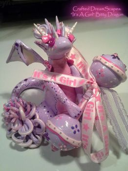 'It's a Girl!' Bitty Dragon by Crafted-DreamScapes