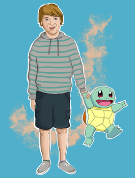 Manhandling Squirtle by Rizzy-25