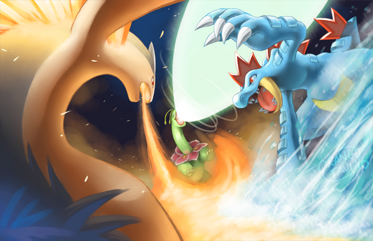 Pokemon HGSS Battle by silverava