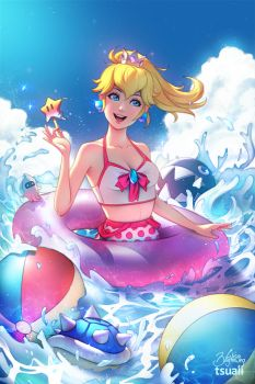 Summertime Peach by Zolaida