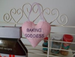 Baking Goddess heart shaped home decoration plush by TearsInTheDark