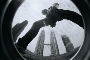 over the petronas by lomosapien