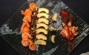 Spicy Shrimp and Black Bean Salad Platter by PrYmO-ART