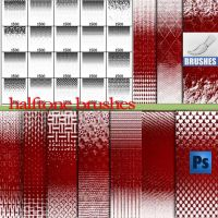 halftone ornament brushes by roula33