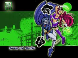 Teen Titans WP by spikecomix