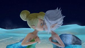 tinkerbell y periwinkle beso 3 by tailsxamyporsiempre