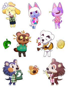 Animal Crossing Stickers!~ by Eriray076