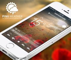 Ping weather ISO app design by Creative-samiul
